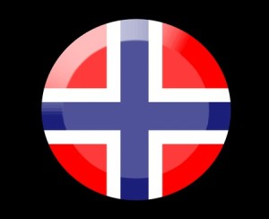 norway flag in black background