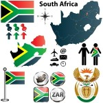 South Africa's flag, map