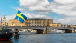 Sweden - Stockholm and Swedish Flag