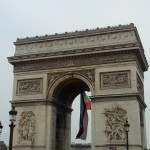 view of the arch of triumph, paris