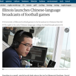 Screenshot from the report about the Chinese language broadcasts in The Guardian