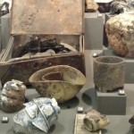 Burnt objects in Hiroshima bombing