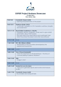 Business Showcase Agenda