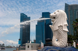 Merlion Statue - Landmark of Singapore