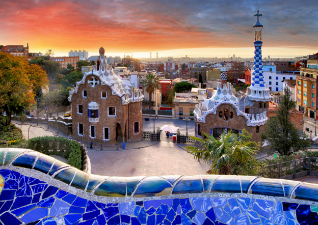 A view of parc güell in barcelona