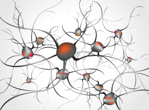 neural networks - inside the brain concept of neurons and nervous system vector