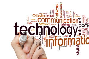 information technology concept word cloud background