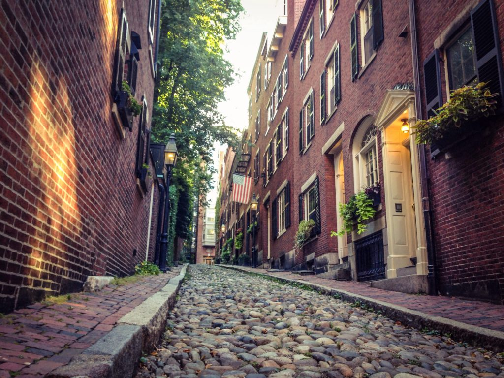 Acorn Street part of the Freedom Trail (Translation Services in Boston)