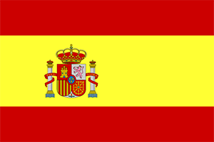 Spanish flag, often used as a symbol for spanish speakers
