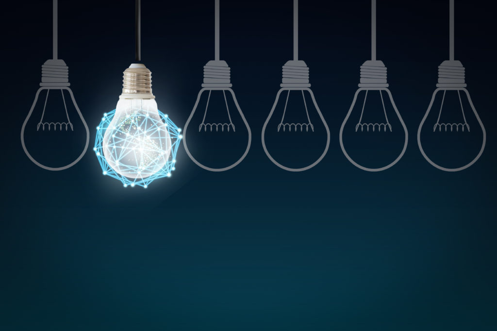 Light bulb on a string meaning idea that needs patent translation services